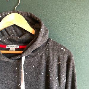 forever 21 splatter print sweatshirt // size L